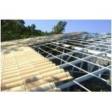 estrutura metálica para telhado colonial Americana