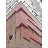 revestimento metálico para fachada Louveira